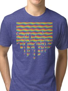 Psychedelic Paint Drip Tri-blend T-Shirt