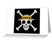 ONE PIECE - LUFFY FLAG  Greeting Card