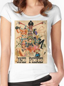 ONE PIECE - TEAM LUFFY (crewmate) Women's Fitted Scoop T-Shirt