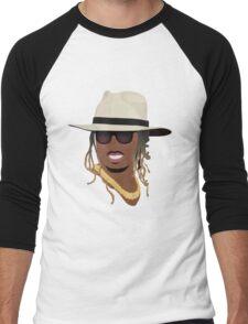 Hip Hop Portrait 8 Men's Baseball ¾ T-Shirt