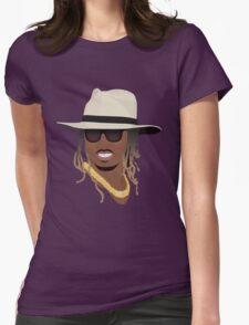 Hip Hop Portrait 8 Womens Fitted T-Shirt