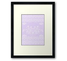 Romantic Lacey White Framed Print