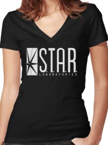 STAR Labs Women's Fitted V-Neck T-Shirt