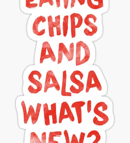 Eating Chips and Salsa Watercolor Sticker