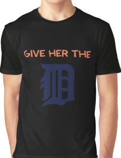 Give Her The D - Detroit Orange Graphic T-Shirt