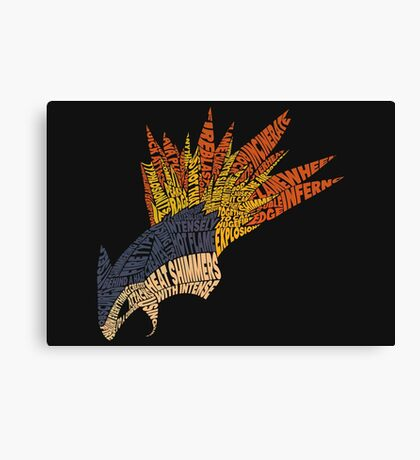 Pokemon - Typhlosion - Typography Canvas Print