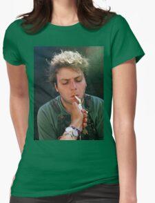 Mac DeMarco Smoking Womens Fitted T-Shirt