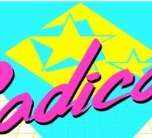 Radical 80s Retro T Shirt Sticker