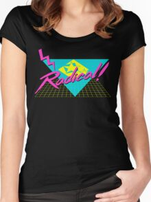 Radical 80s Retro T Shirt Women's Fitted Scoop T-Shirt