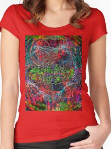 Abstract Animal Collective  Women's Fitted Scoop T-Shirt