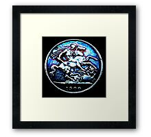 St George & The Dragon Framed Print