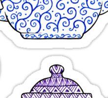 Patterned Teapots Sticker