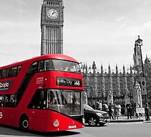 Red London Bus by Essexbeginner