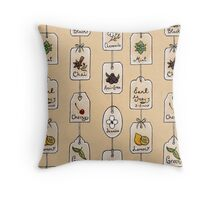 Tea Tag Time Throw Pillow