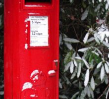 Post Box Christmas Card Sticker