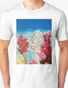 Alpinia purpurata – Red Ginger Flower, Nature in Bogota, Colombia  T-Shirt