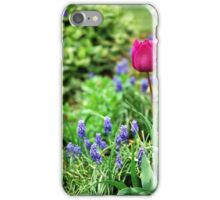 Tulips in a relaxing garden iPhone Case/Skin