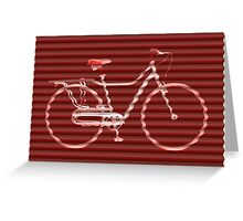 Red Bike Lines Greeting Card