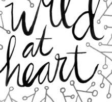 Wild at Heart – Silver Sticker