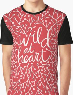 Wild at Heart – Red & White Graphic T-Shirt