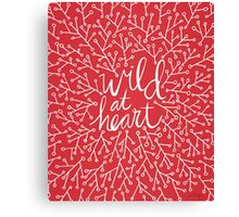 Wild at Heart – Red & White Canvas Print