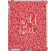 Wild at Heart – Red & White iPad Case/Skin