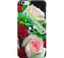 Happy bday flowers iPhone Case/Skin