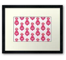 Vintage pink/salmon colored pattern Framed Print