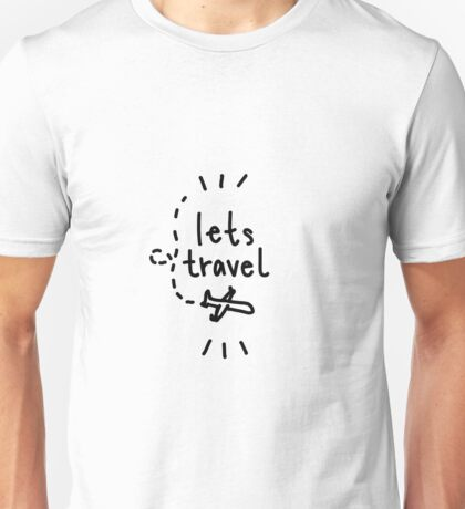 lets travel plane drawing Unisex T-Shirt