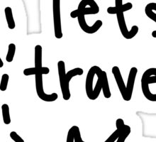 lets travel plane drawing Sticker