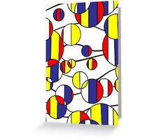 Mondrian Bubbles Greeting Card