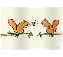 Tickle Tickle Little Squirrel Poster