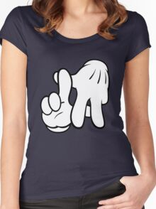 L.A. Hands.  Women's Fitted Scoop T-Shirt