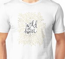 Wild at Heart – Gold Branches on White Unisex T-Shirt