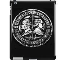 Black and White Medal iPad Case/Skin