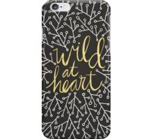 Wild at Heart – Gold on Black iPhone Case/Skin