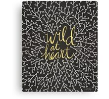 Wild at Heart – Gold on Black Canvas Print