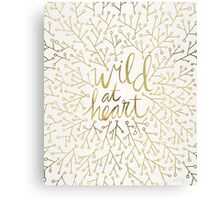 Wild at Heart – Gold on White Canvas Print