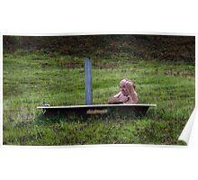 Tramp in a bath Poster