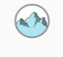blue mountains in circle Unisex T-Shirt