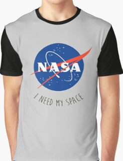 I Need My Space Colour Graphic T-Shirt