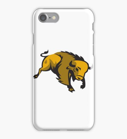American Bison Charging Retro iPhone Case/Skin