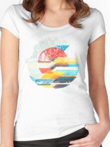 Digital Sun Horizon  Women's Fitted Scoop T-Shirt