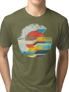 Digital Sun Horizon  Tri-blend T-Shirt