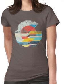 Digital Sun Horizon  Womens Fitted T-Shirt