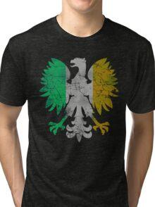 Vintage Flag of Ireland Polish Eagle Tri-blend T-Shirt