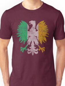 Vintage Flag of Ireland Polish Eagle Unisex T-Shirt