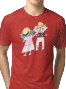 Your hat is crooked!! let me fix that. :D - ABC '14 Tri-blend T-Shirt