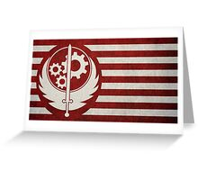Fallout - The Flag of the Brotherhood of Steel Greeting Card