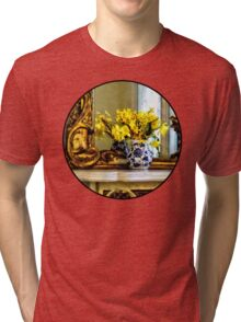 Daffodils on Mantelpiece Tri-blend T-Shirt